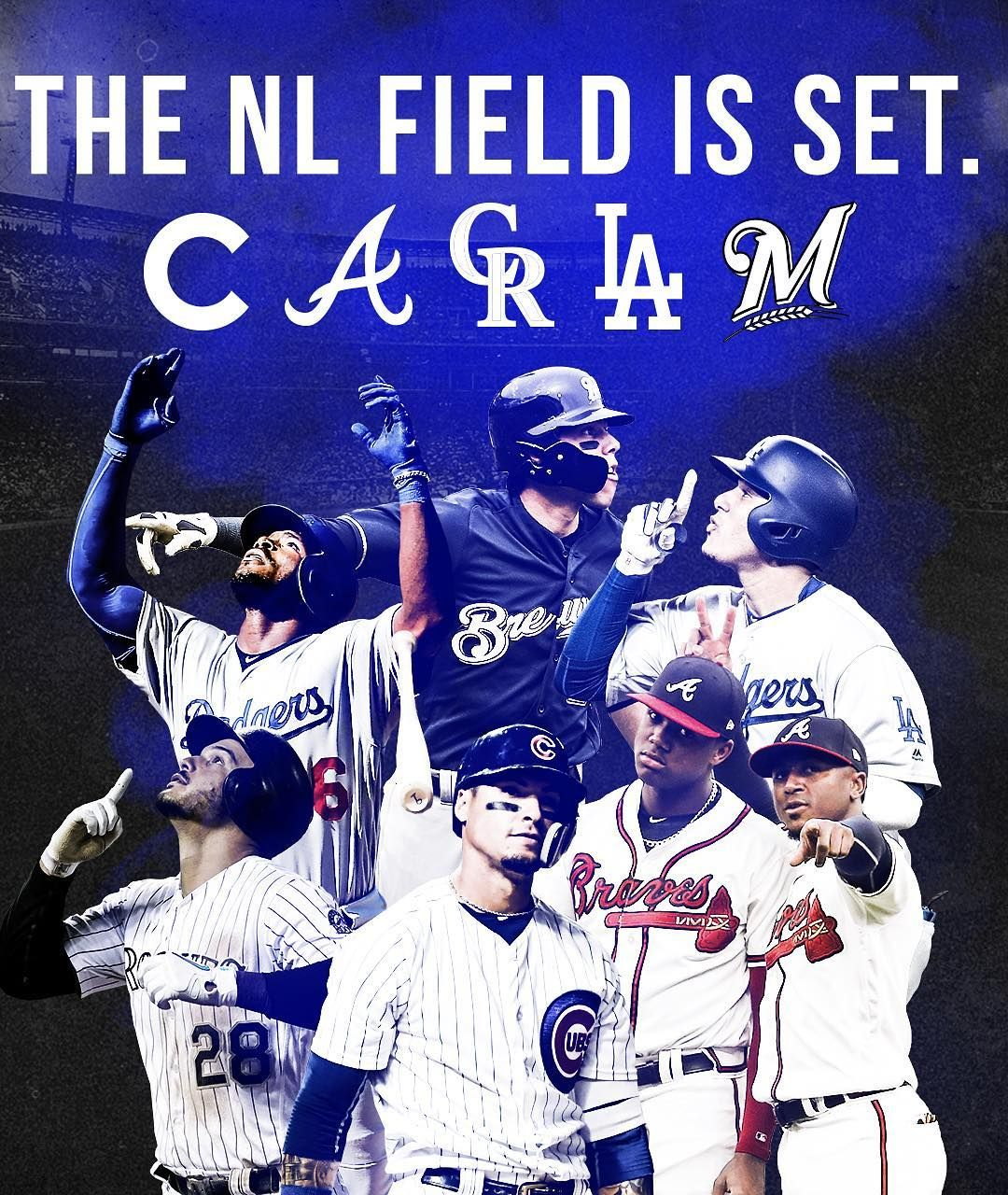 Oh Yeah This Is Gonna Be Good Christian Yelich Baseball Playoffs Atlanta Braves