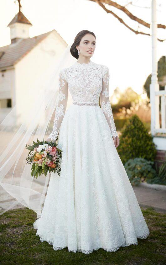 Vestido de novia romántico de dos piezas |  Martina Liana  – Boda