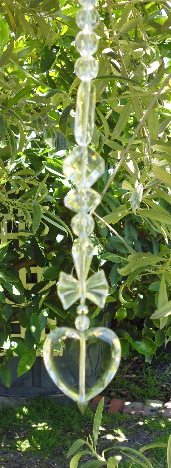 hanging faux crystals garden decor hanging crystals by FauxCrystal ...