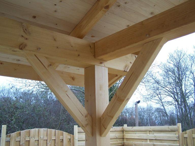 Carport en bois double pente KALKUTTA 19m² Avec montage