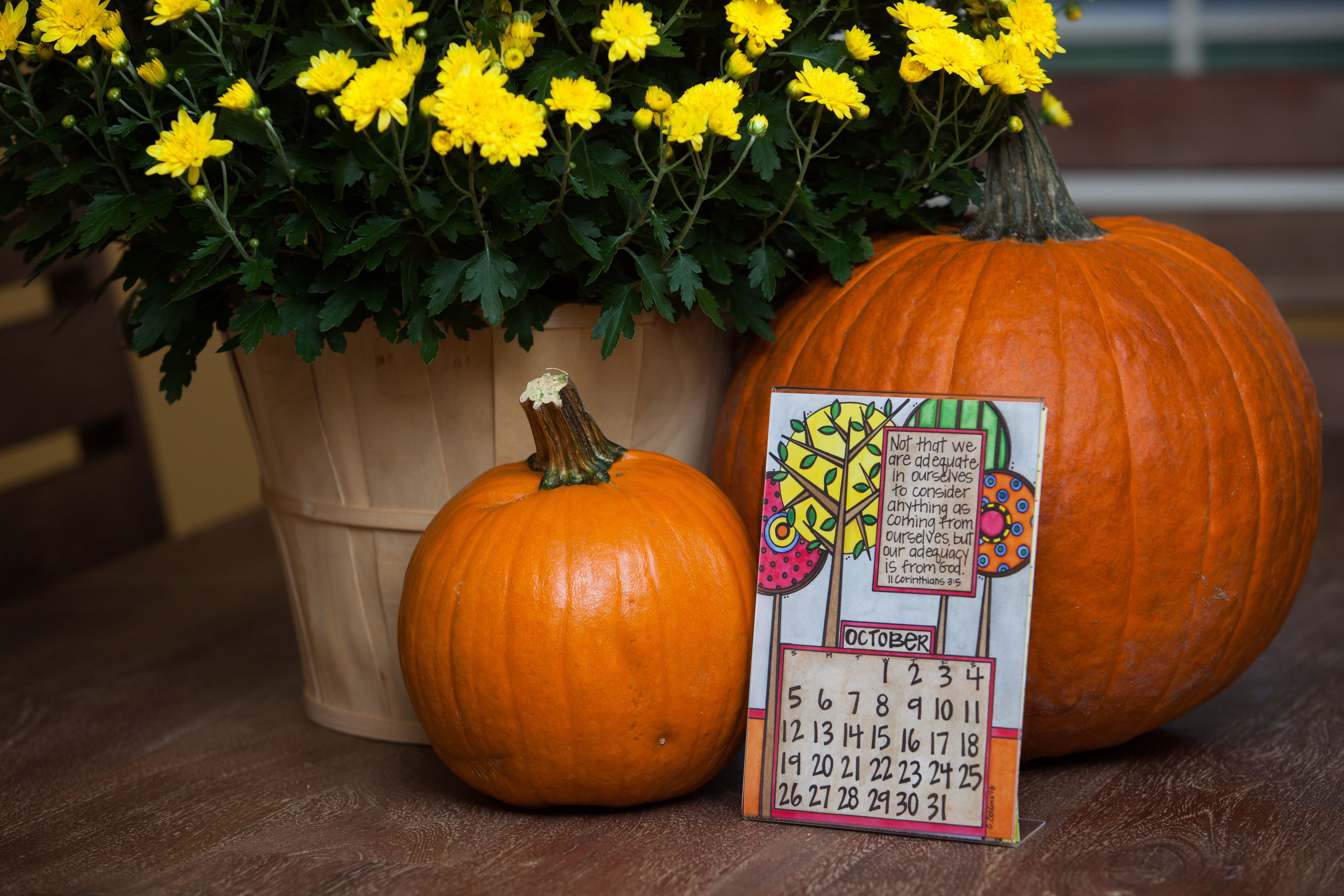 October 2014 from Cary Collins Designs new Scripture Calendar!