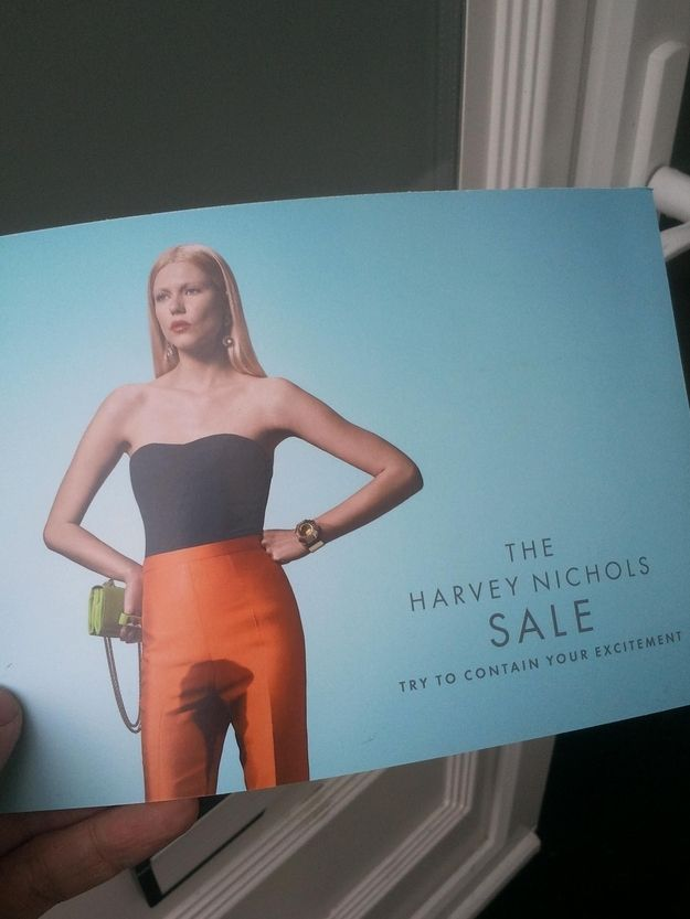 One of the revolting Harvey Nichols Sale ads.