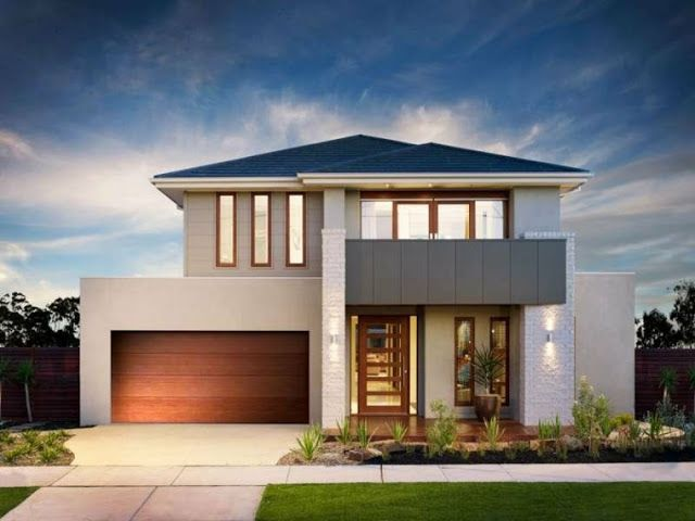 Modern house facades for two story house house facades for Modern 2 story house