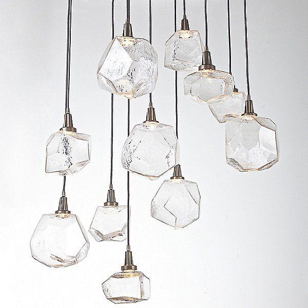 Hammerton Studio Grey Gem Round Multi Light Pendant By Levi Wilson At Lumens