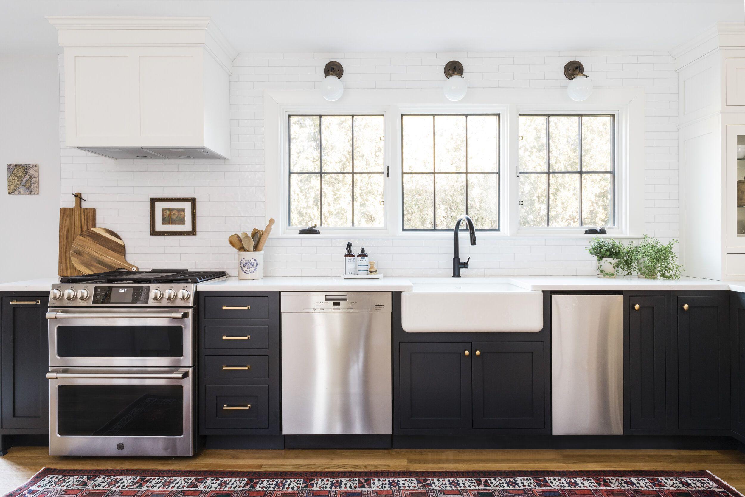 Tuxedo Kitchen Trim Design Co Black White Kitchen In 2020 Home Remodeling Kitchen Plans French Home Decor
