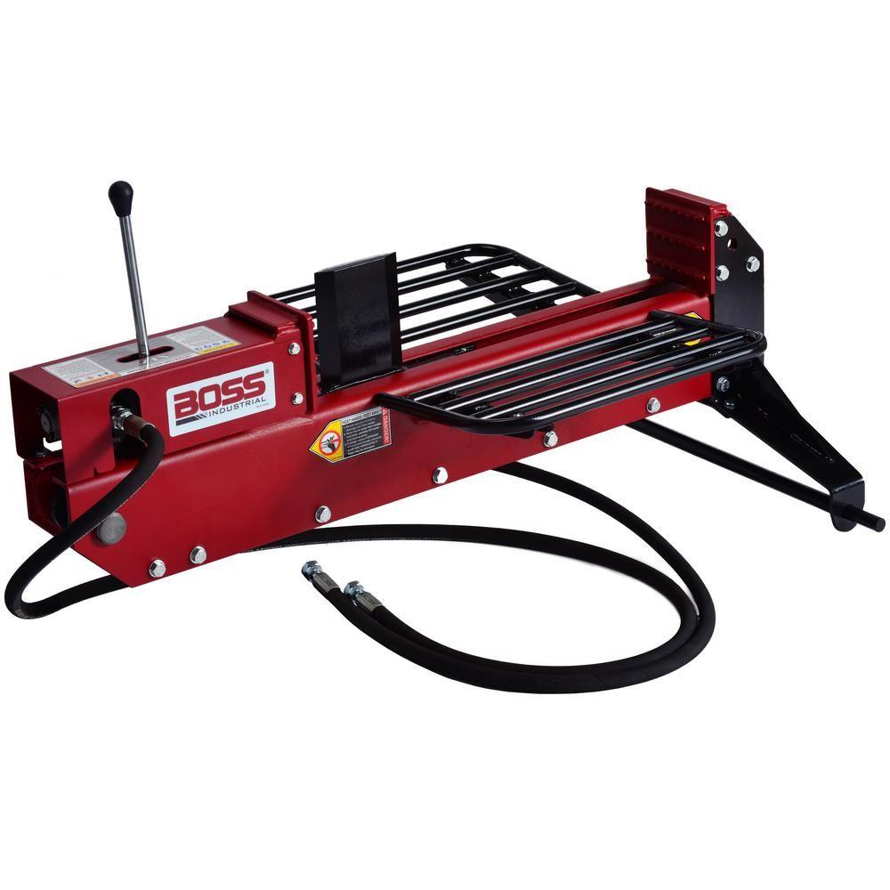 Boss Industrial 16 Ton 3pt Dual Action Log Splitter Log Splitter Home Depot Electric Logs