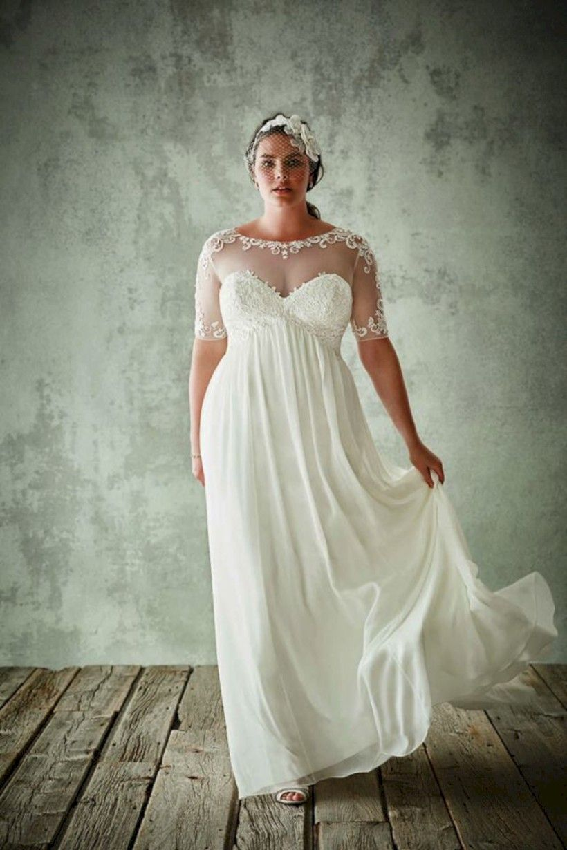 5fdf8ca38fa awesome 52 Beautiful Plus Size Winter Wedding Dress Ideas  https   viscawedding.com