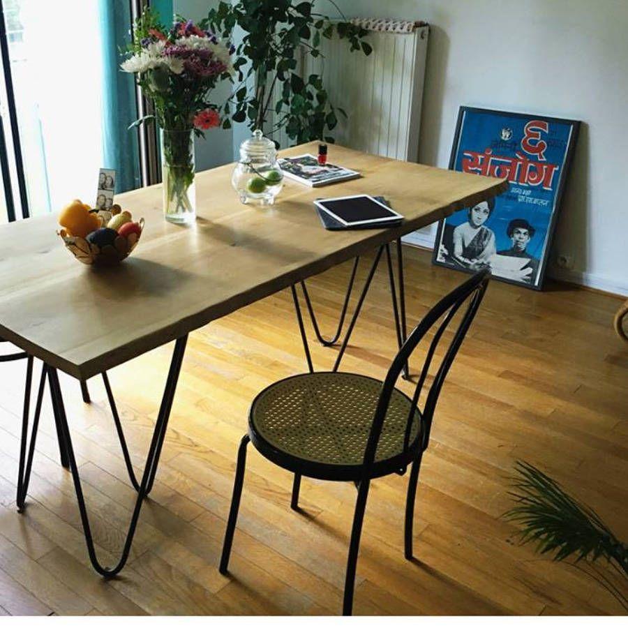 table de salle à manger chêne brut live edge 4 cm d