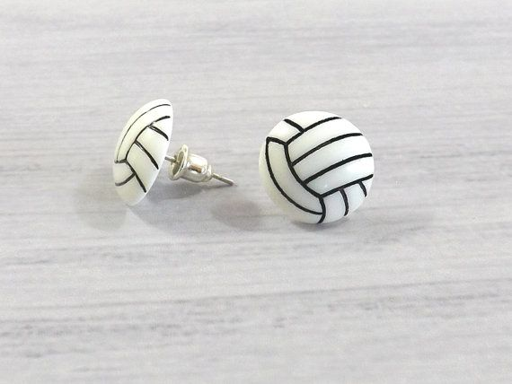 Volleyball Gifts Volleyball Earrings Tiny Volleyball Mini Volleyball Stud Sports Earrings Volleyball Jewel Volleyball Gifts Sport Earring Volleyball Jewelry