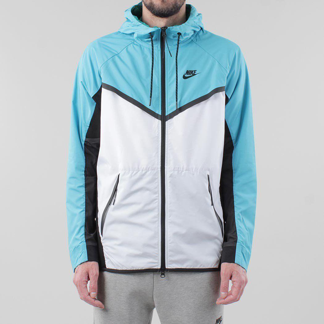 0ce3c17db858 Nike Tech Hypermesh Windrunner Jacket - White Omega Blue