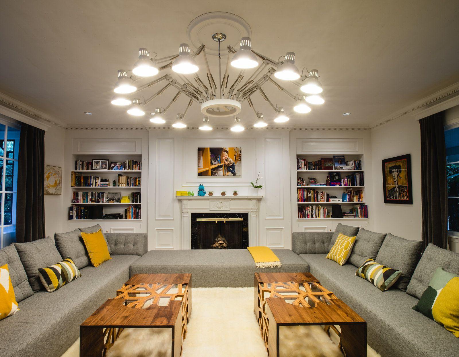 Traditional Living Room With Contemporary Twist Lighting Design Biella Lighting Design Interior