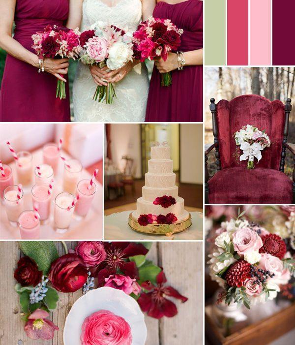Cream Wedding Pink And Burgundy Fall Color Ideas 2014