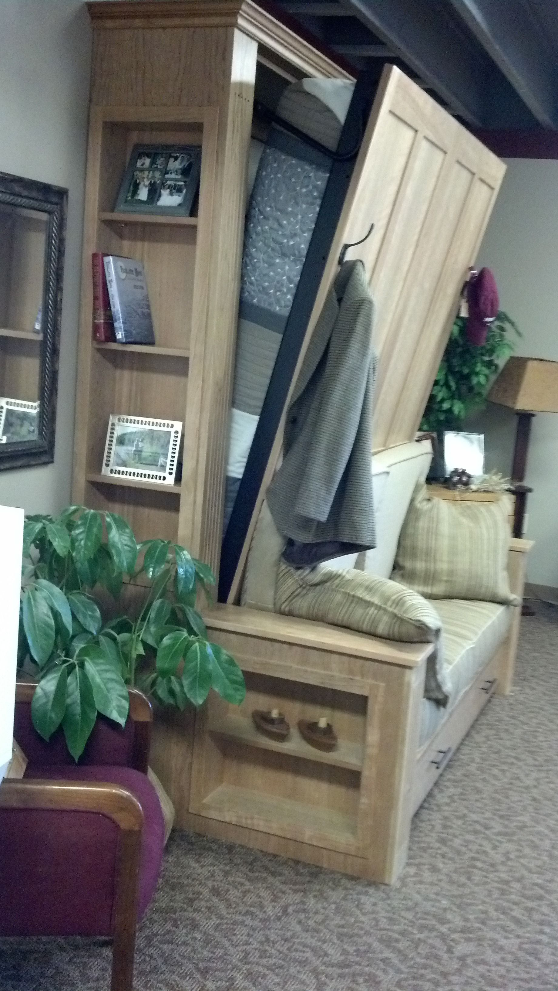 Window seat with bed  sofa murphy bed  library den study  pinterest  murphy bed bed