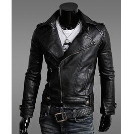 Black Rock Leather Jacket Men Winter | Project Planet X ...