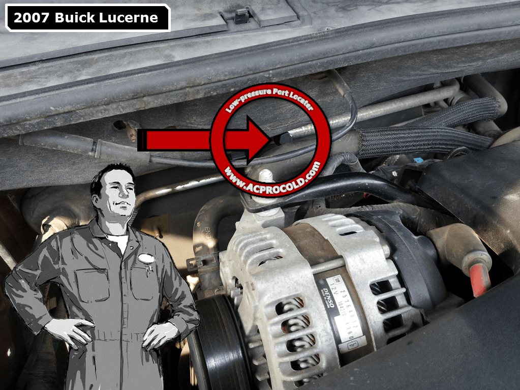 2007 Buick Lucerne Low Side Port for A/C Recharge