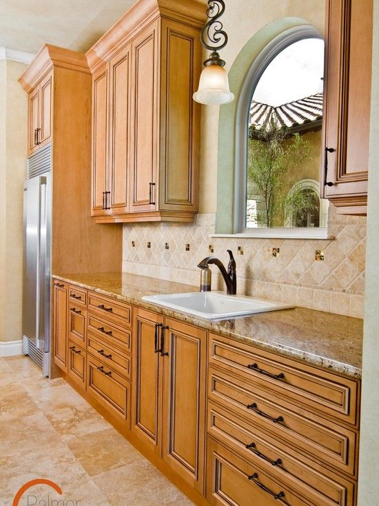 Traditional Natural Maple Cabinets....I like the size of ... on Kitchen Backsplash With Natural Maple Cabinets  id=19149