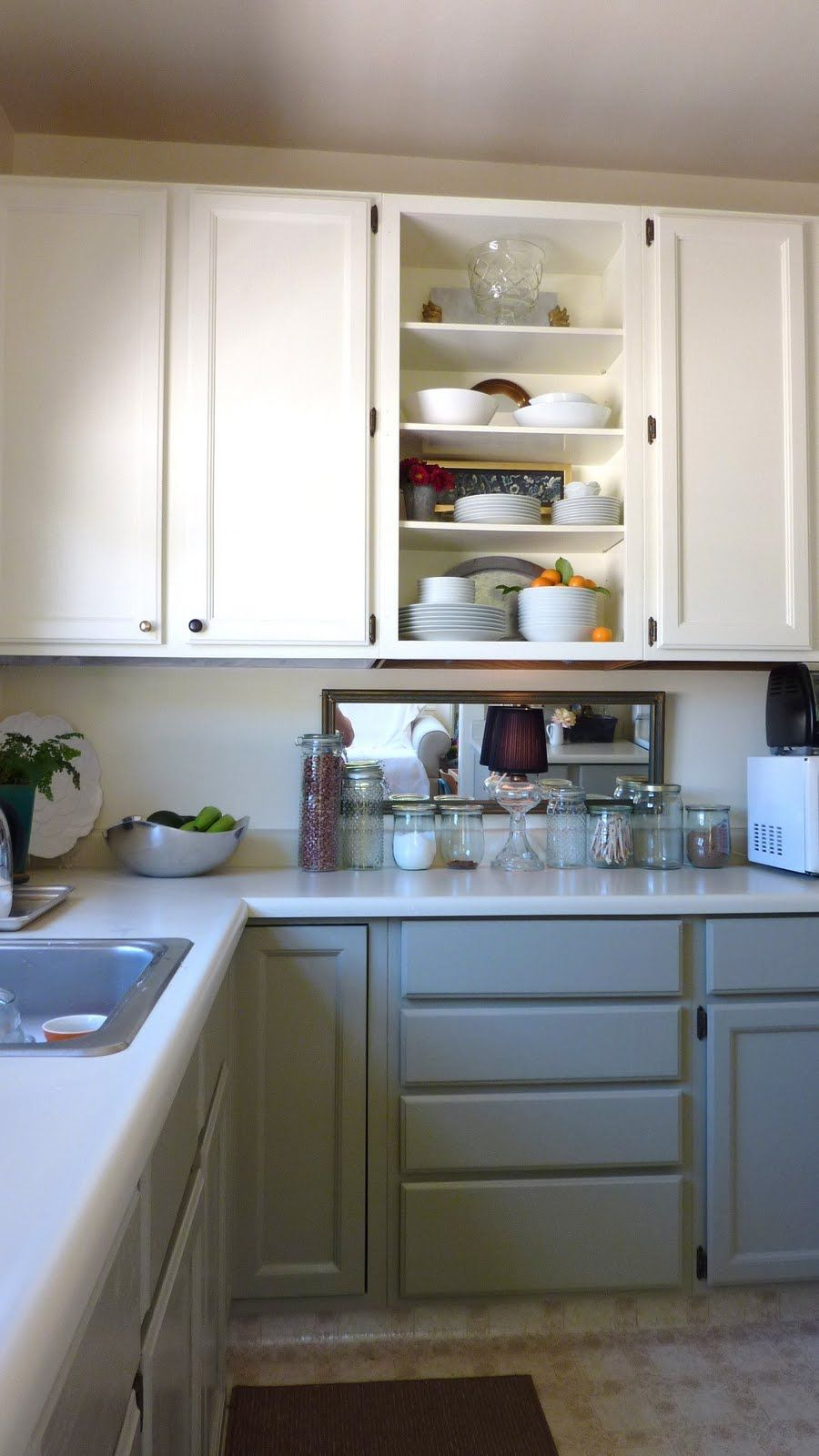 Best Kitchen Idea Painting Lower Cabinets Gray Our White 400 x 300