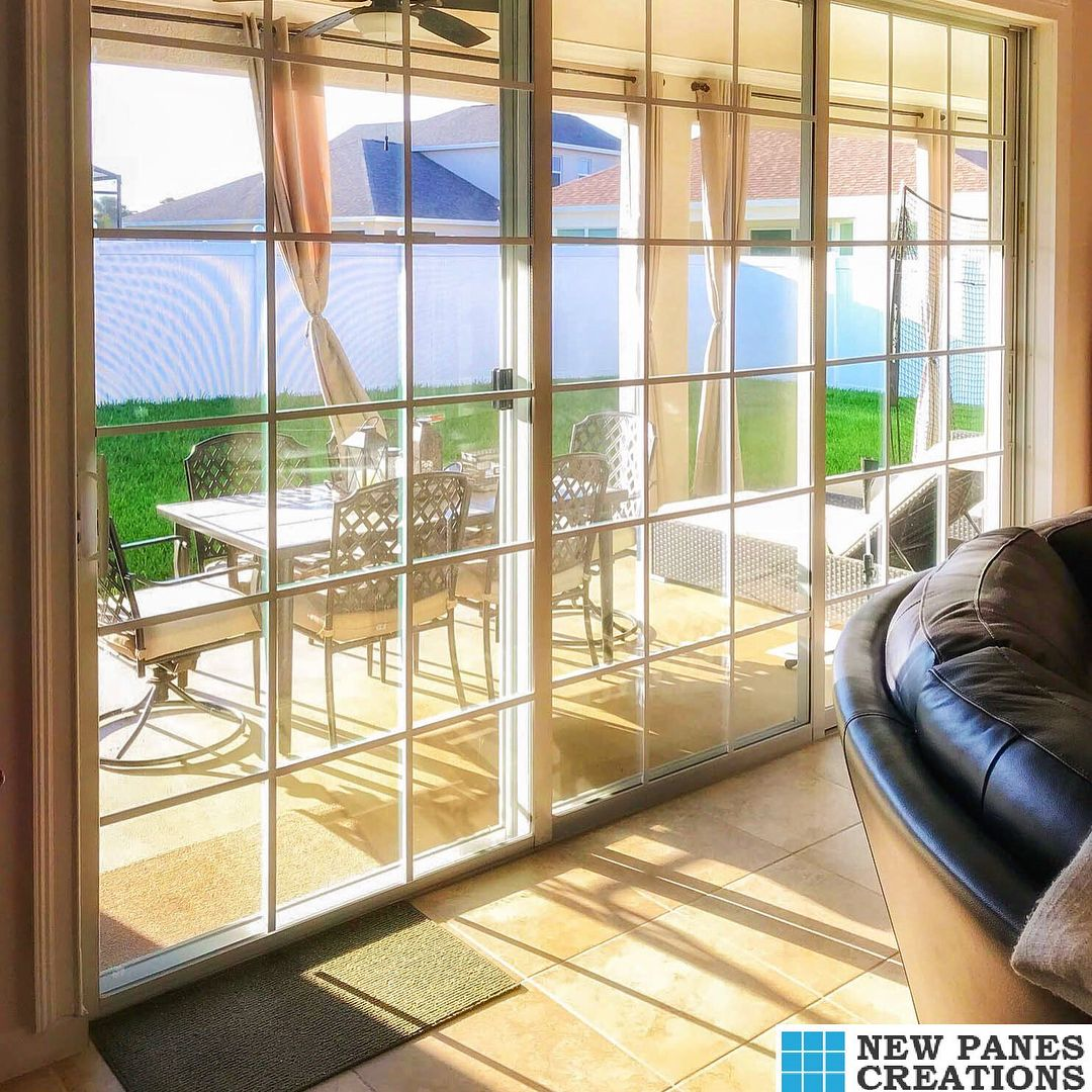 Good Morning Gorgeous Slider Our D I Y Window Panes Make It Simple Just Scissors A Tape Measure No Mess Sliding Glass Door Patio Doors Home Remodeling Diy