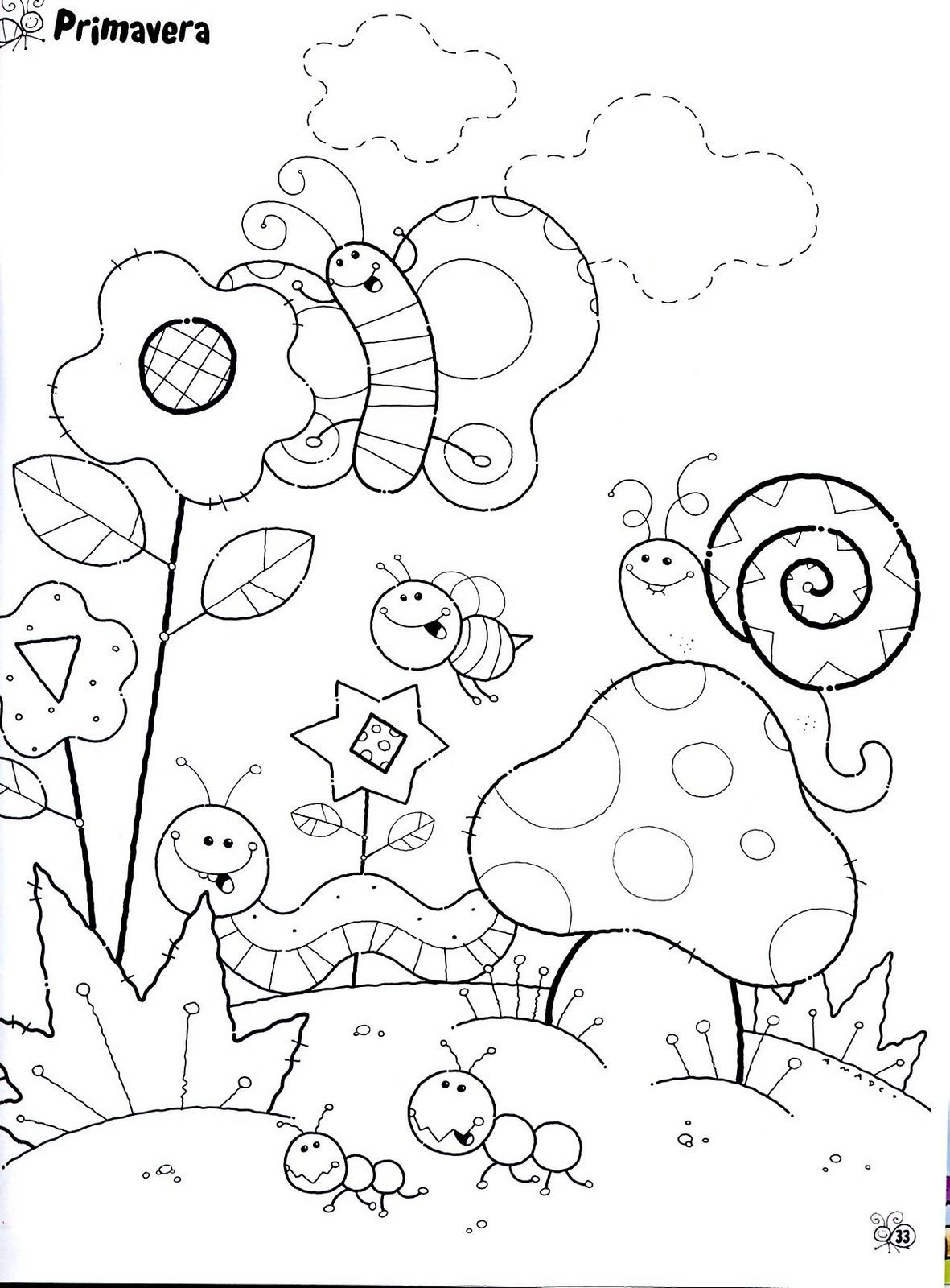 Cute for a bib | Coloring Pages | Pinterest | Ausmalbilder, Insekten ...