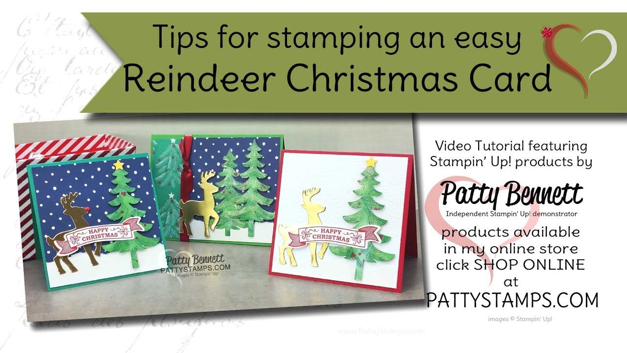 tips for making an easy reindeer christmas card with stampinu up