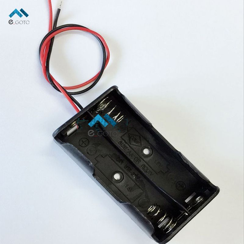 5PCS Plastic Battery Storage Case Box Holder For AA with wire leads