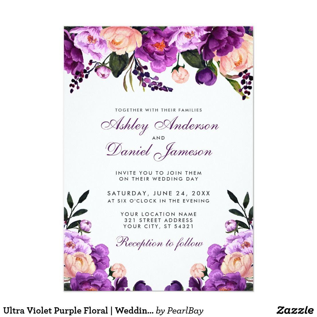 Ultra Violet Purple Floral