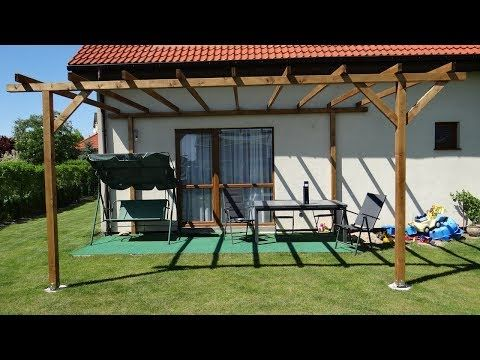 How to Build a Pergola Over a Patio - YouTube ...
