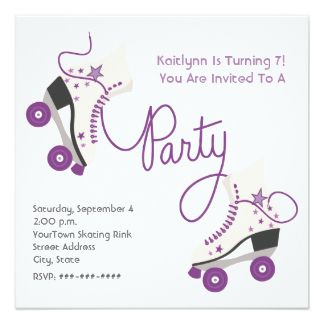 photo regarding Free Printable Roller Skate Party Invitations identified as Free of charge Absolutely free Template No cost Printable Roller Skating Birthday