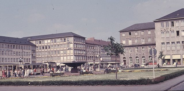 Darmstadt Luisenplatz 1956 by andriz, via Flickr