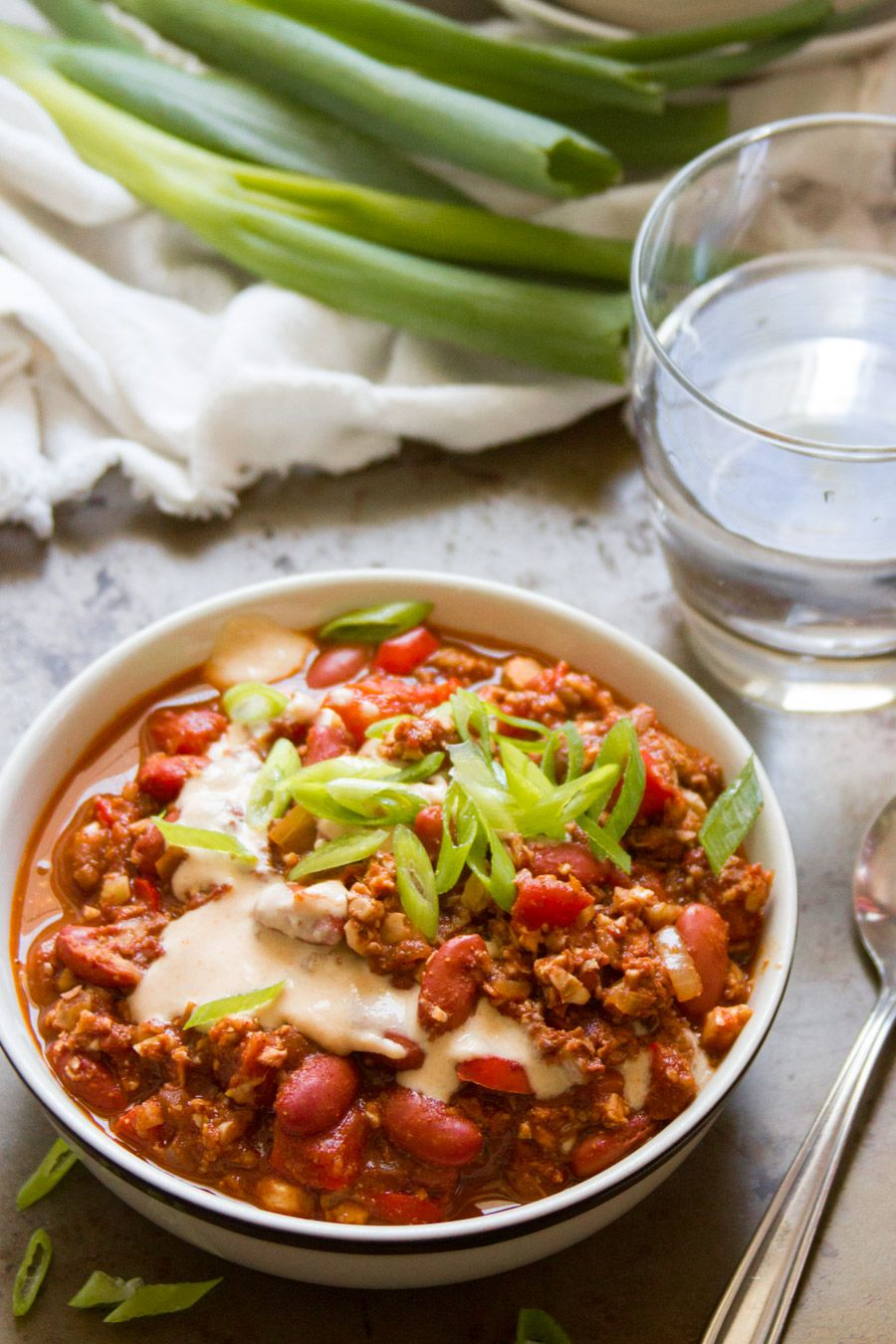 Vegan Chili Con Carne Meatless Chili Healthy Vegan Dinner Recipes Healthy Vegan Dinner