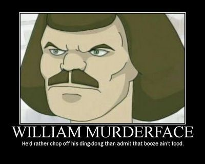 Murderface Dethklok Metalocalypse What Do U Mean Booze Aint Food