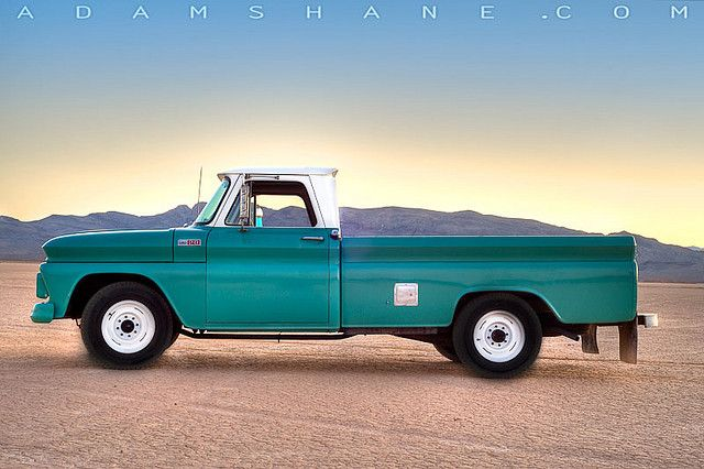 1965 Chevy C20 Longbed Fleetside Pickup Truck Side Pickup