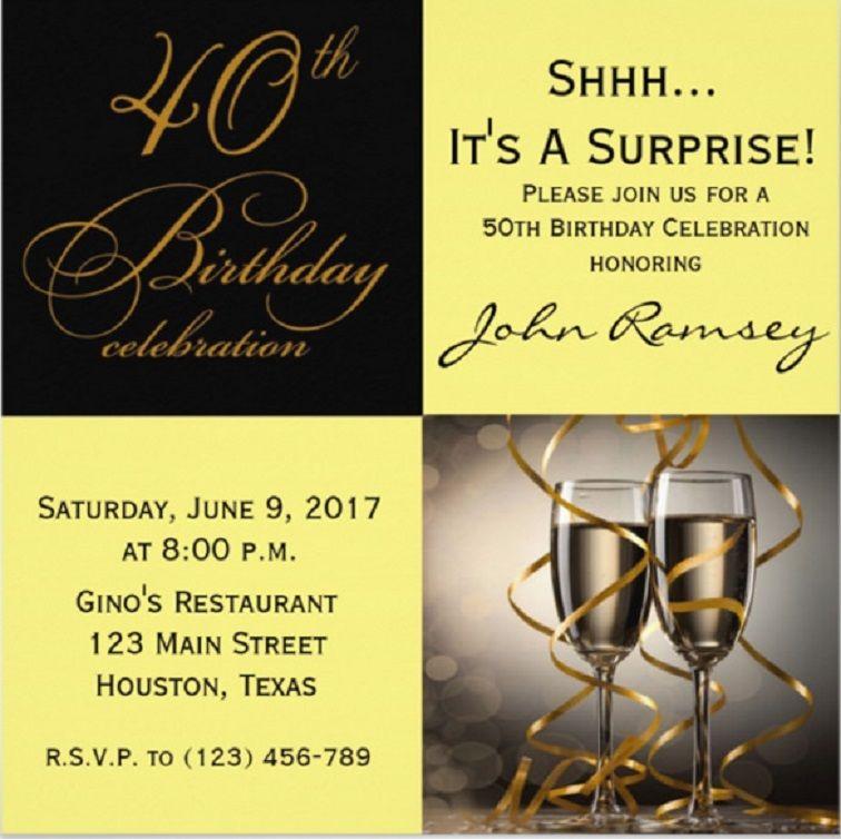 40th Birthday Invitations Free