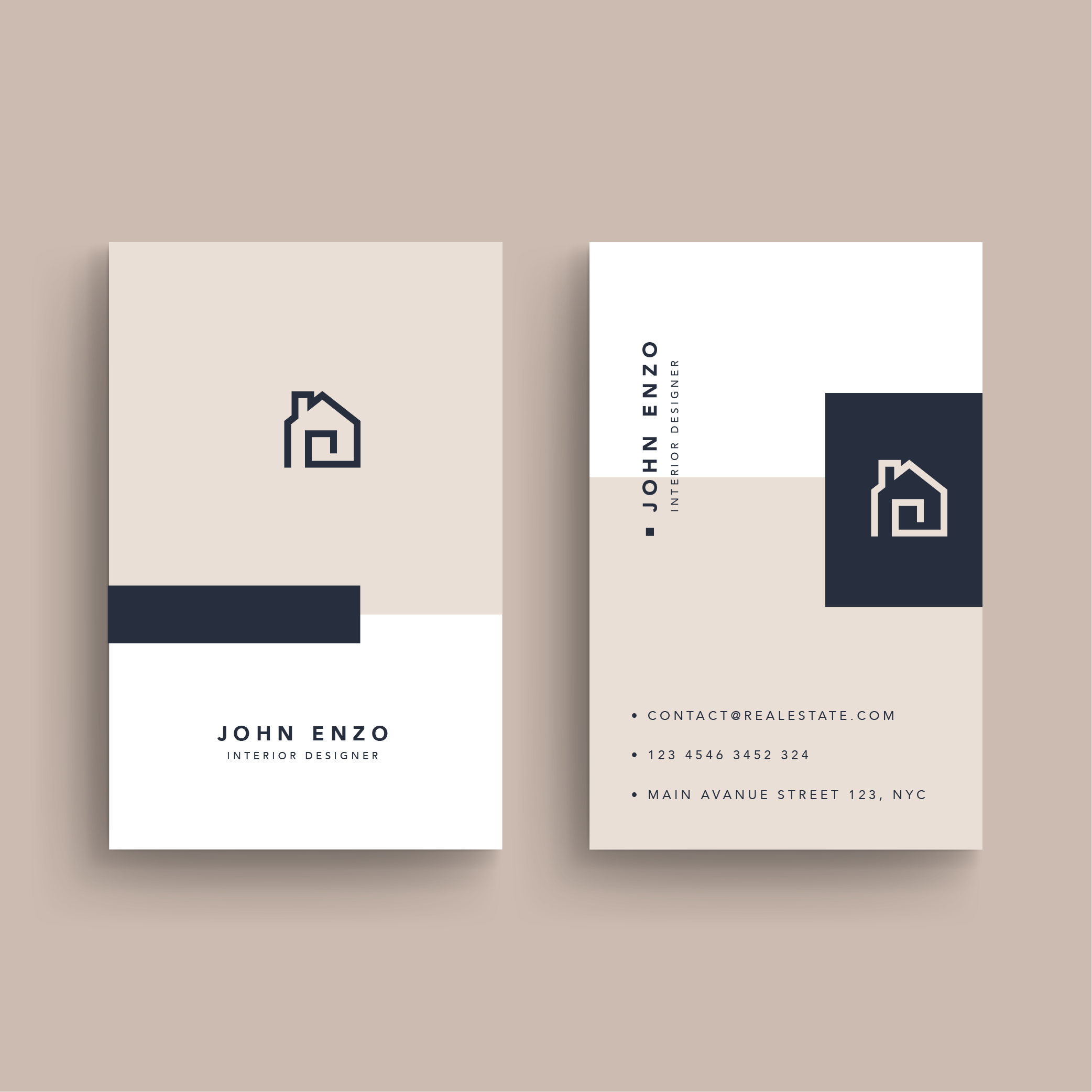 Real Estate Business Card On Behance Real Estate Business