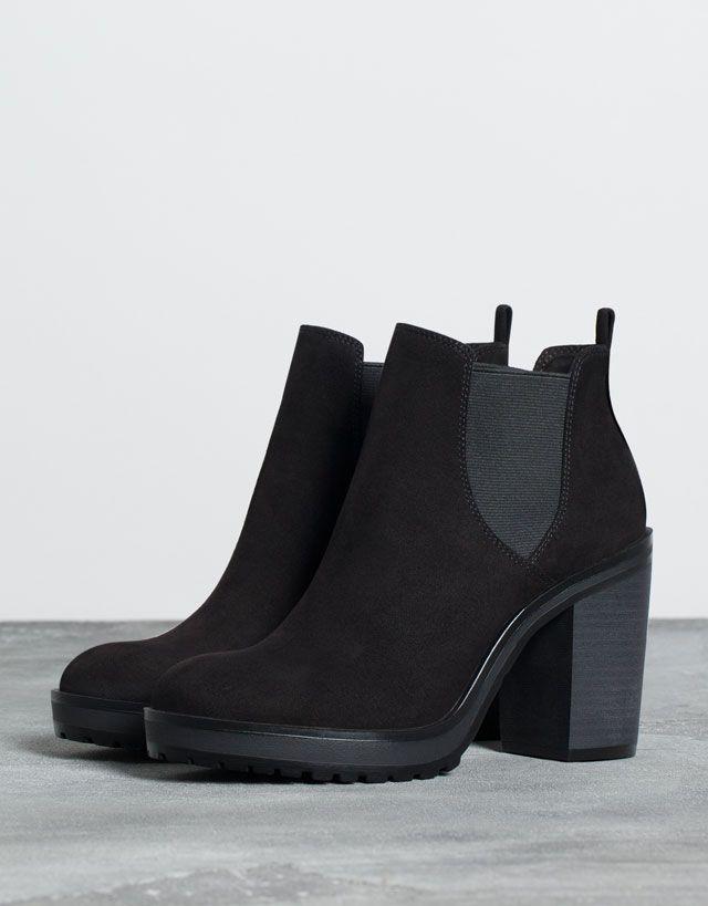 Bershka Suede Chelsea Boots In 8OwQul