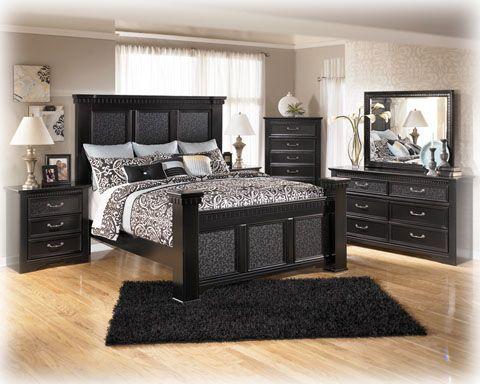 Elegante Schwarze König Schlafzimmer Sets Cal King