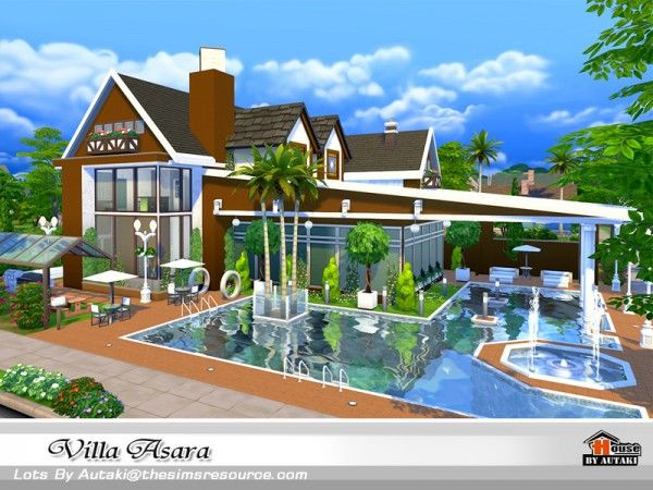 The Sims Resource Villa Asara by Autaki • Sims 4 Downloads