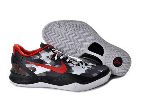 watch acd50 195c2 Nike Zoom Kobe 8 USA,Style code 555035-101,It features a black upper with  white accents including the 3-D geometrical pattern and outsole, while red  color ...