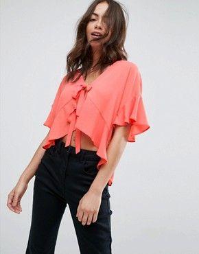 178b0193648148 Shirts | Women's shirts & blouses | ASOS | Tops | Shirt blouses, Tie ...