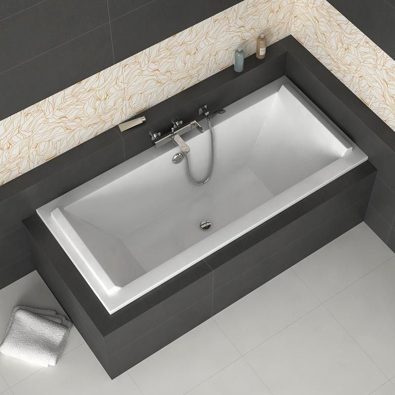 Baignoire rectangulaire 180x80 cm acrylique duravit starck bathroom it - Vasque a poser duravit ...