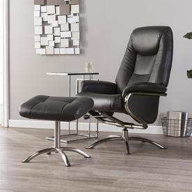 Super Boston Loft Furnishings Silver Bonded Leather Swiveling Caraccident5 Cool Chair Designs And Ideas Caraccident5Info