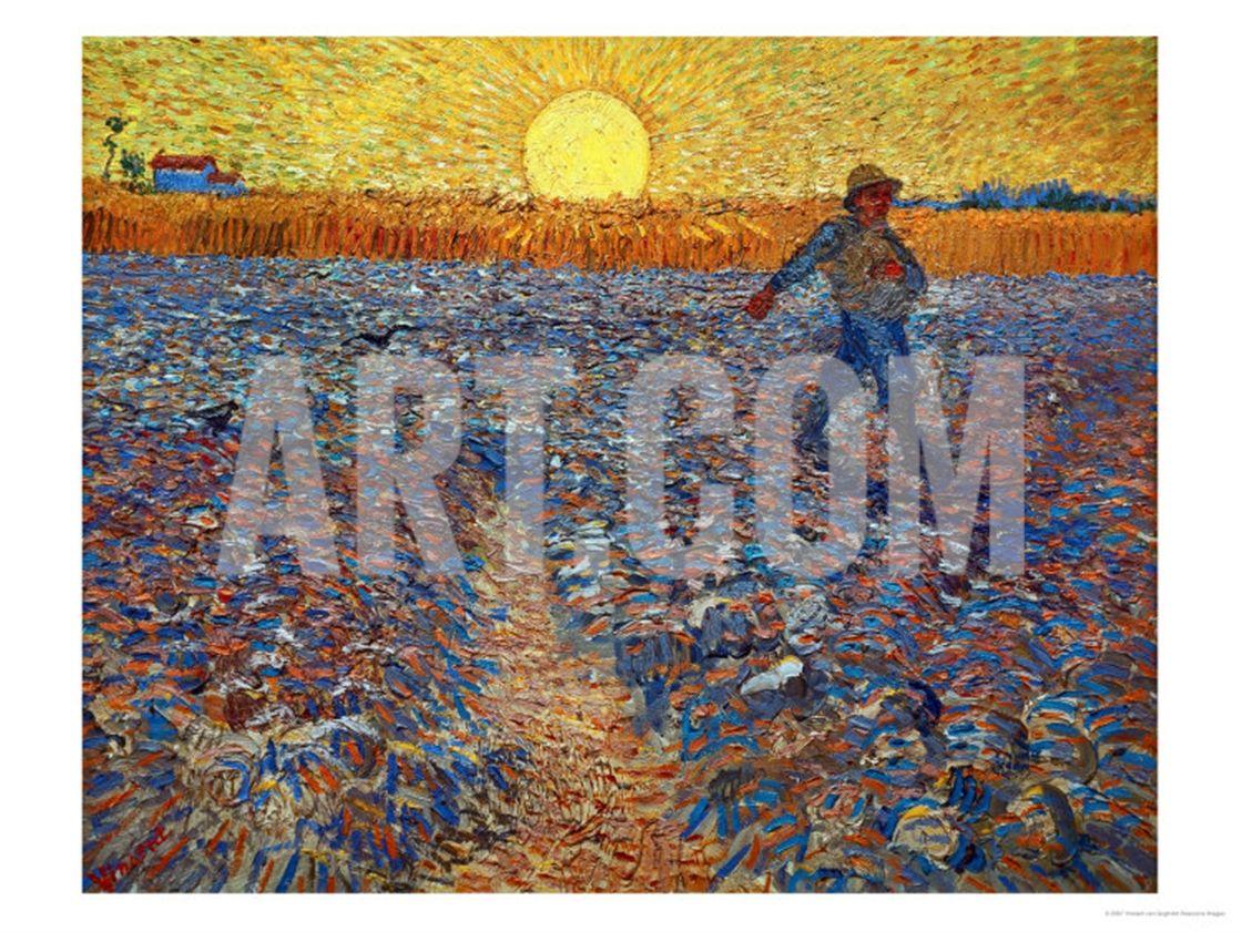 The Sower C 1888 Giclee Print Vincent Van Gogh Art Com Van Gogh Art Vincent Van Gogh Paintings Van Gogh Paintings