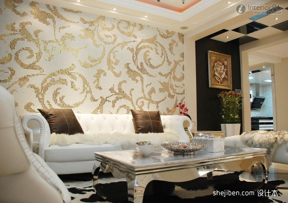 Httpswwwgoogleplsearchqsilver And Gold Home Interiors Simple Best Living Room Wallpaper Designs Inspiration