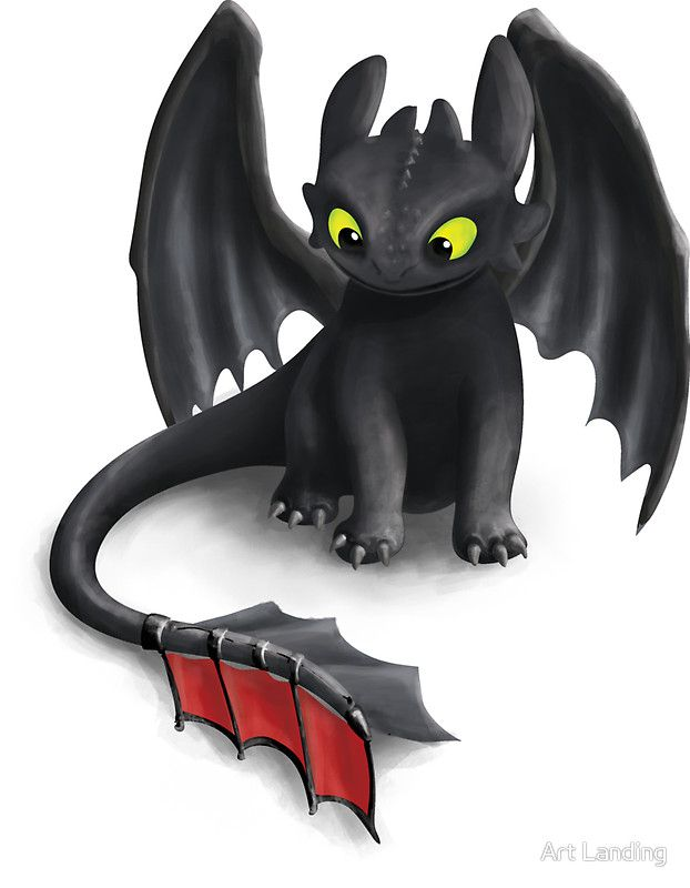 Toothless Night Fury Inspired Dragon By Art Landing How Train Your Dragon Dragon Illustration How To Train Your Dragon