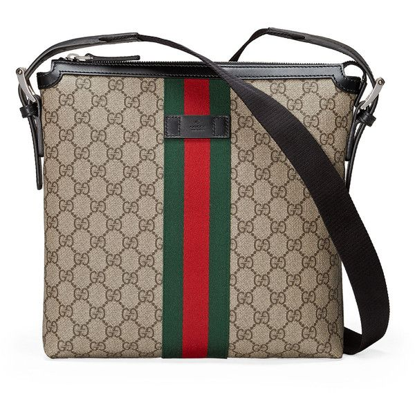 0d205bbd7b2 Gucci Web GG Supreme Messenger Bag ( 790) ❤ liked on Polyvore featuring bags