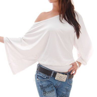 Amazon.com: White Off Shoulder Blouse: Clothing
