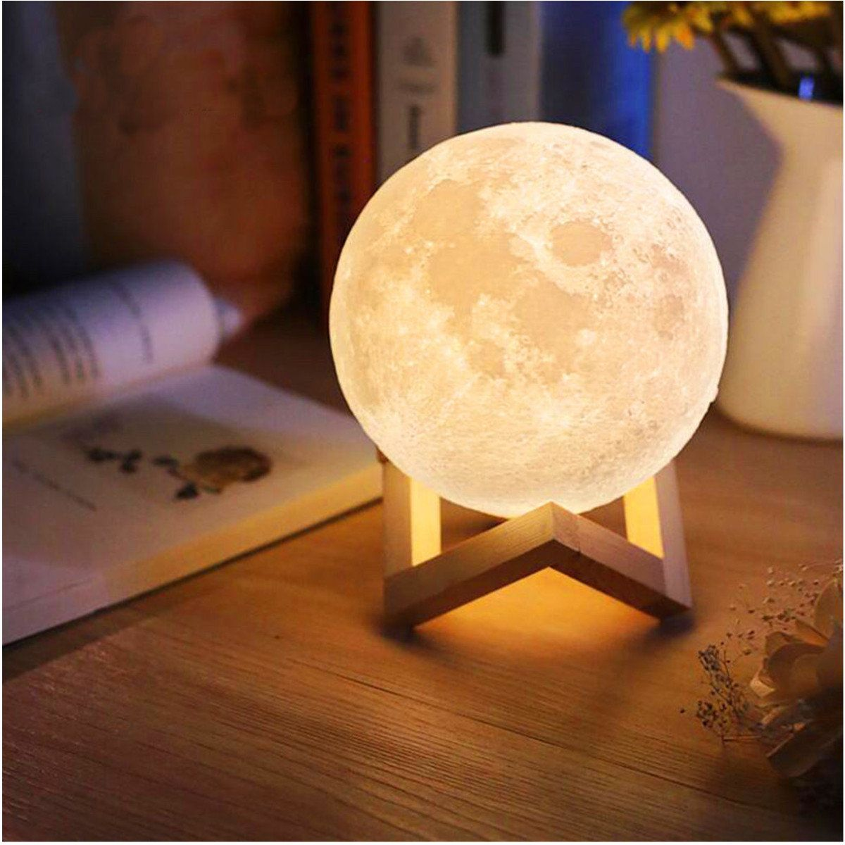 3d Usb Led Magical Moon Night Light 3 Colors Change Moonlight Table Desk Moon Lamp Touch Lamp Night Light Lamp Led Night Light