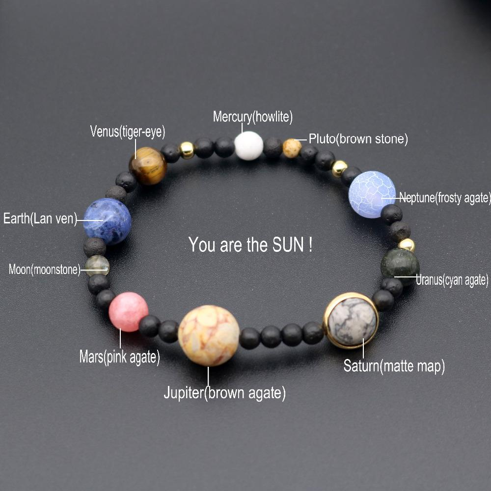 The Eight Planets Solar System Beads Bracelet Energy Star Natural Stone Chain Anklet For Women Gift Jewelry Sets & More