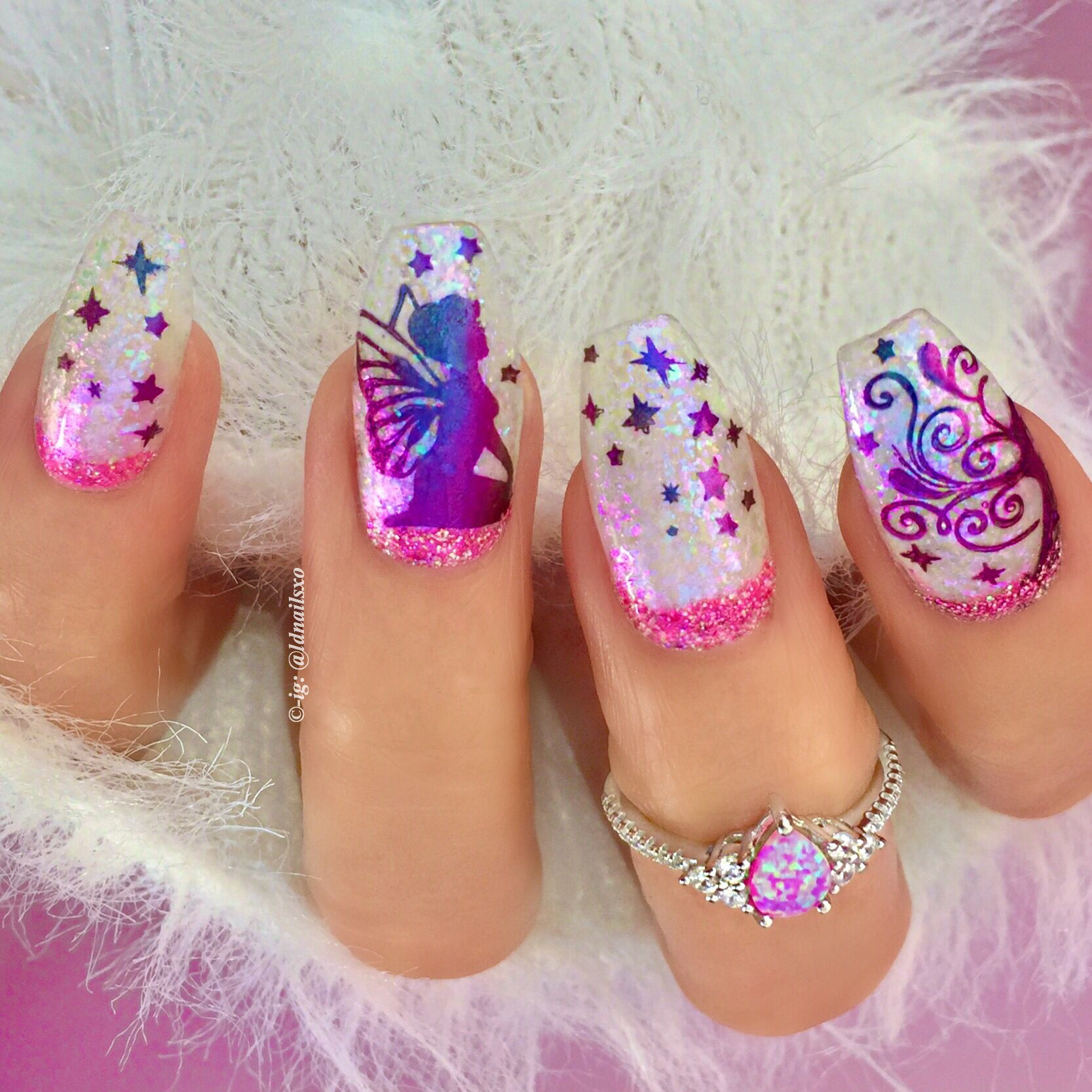 Fairy Twinkle ✨ Nails / Nail Art - Click link below this photo for ...