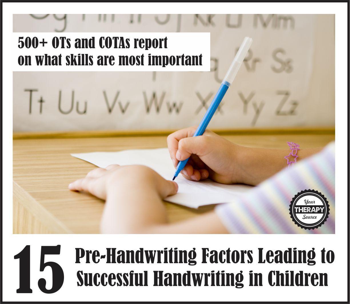 Development Of Handwriting Skills